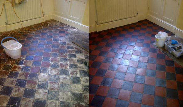 Quarry tile floor cleaning Nottingham Derbyshire Leicestershire Warwickshire Lincolnshire South York