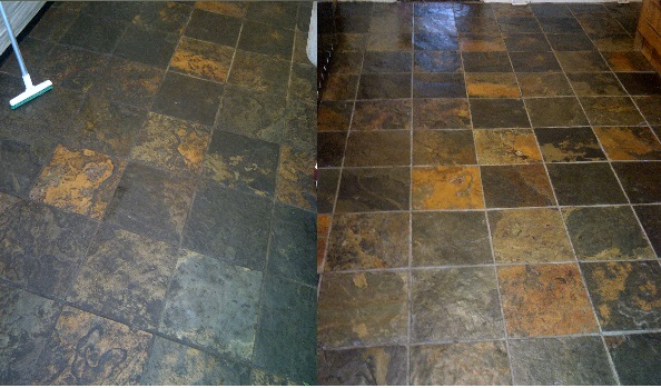 Slate floor cleaning in Warwickshire