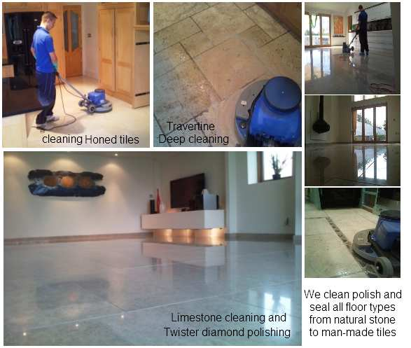 cleaning polishing sealing stone floors